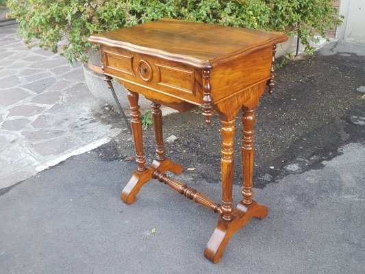 Antique Louis Phillipe 19th Century French Walnut Coffee Table
