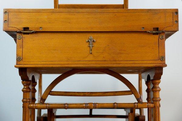 Antique Art Nouveau Childrens Desk And