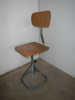 Wondrous Vintage Italian Iron And Formica Adjustable Stool 1970S Uwap Interior Chair Design Uwaporg