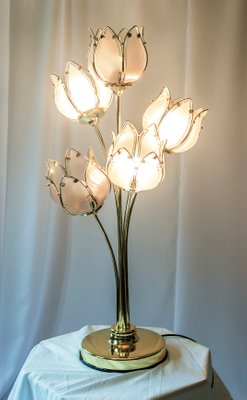 Italian table lamp with vintage glass