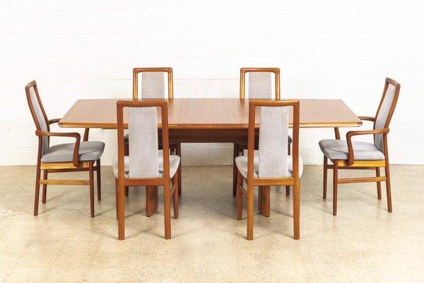 Mid Century Danish Teak Dining Room Set By Vejle Stole O G Moebelfabrik 1960s