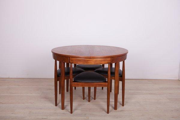 Mid Century Teak Dining Table 4 Chairs By Hans Olsen For Frem Rojle 1950s