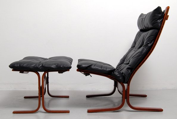 Groovy Vintage Siesta High Back Sling Lounge Chair And Ottoman Set By Ingmar Relling For Westnofa Gmtry Best Dining Table And Chair Ideas Images Gmtryco