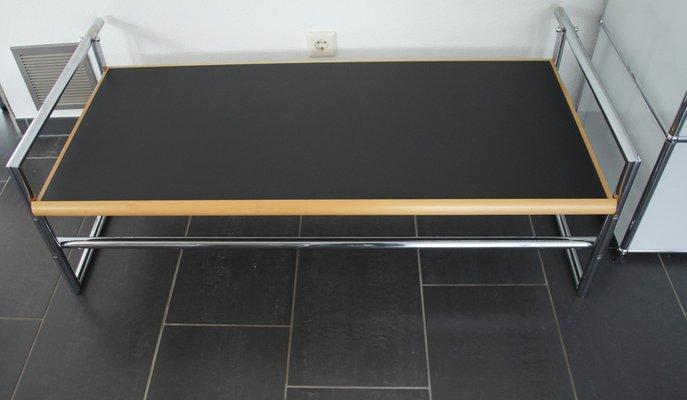 Chrome Tubular Steel Menton Side Table By Eileen Gray For