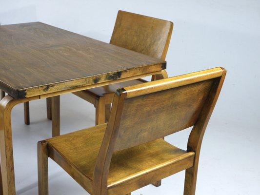 Chaises Aalto1930sSet de et Manger Scandinaves Alvar à Modèle 4 en Hêtre Salle Contreplaqué 611 par de CxedBo