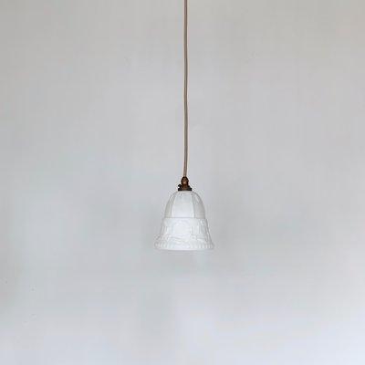 Antique Edwardian Milk Gl Pendant Lamp