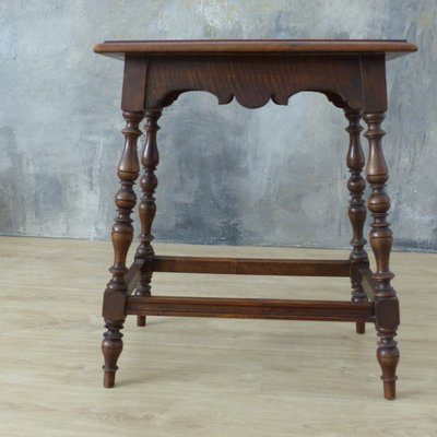 Antique German Wooden Side Table For