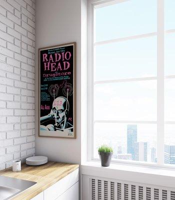 Radiohead Concert Poster by Justin Hampton, 1995