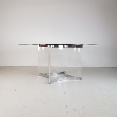 Italian Gl Lucite Dining Table By Alessandro Albrizzi 1970s