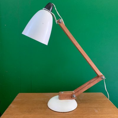 Metal And Wood Maclamp Table Lamp By Terence Conran For Habitat