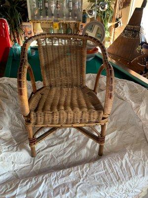 Vintage Rattan Armchair For At Pamono