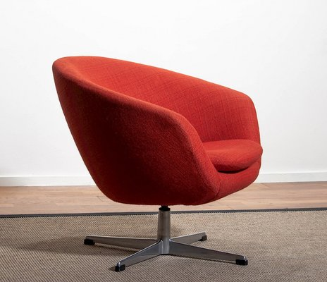 Superbe Danish Aluminum Swivel Lounge Chair By Carl Eric Klote For Overman , 1960s