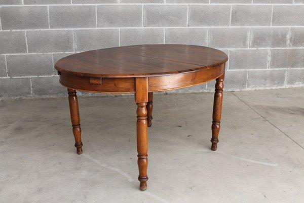 Tavoli Da Pranzo Allungabili Antichi.Tavolo Da Pranzo Ovale Antico Allungabile In Noce Inizio Xix Secolo