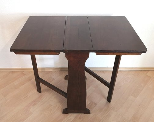 Table Pliante Antique En Bois Tendre