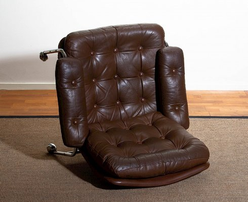 Outstanding Chrome Leather Lounge Chair From Scapa Rydaholm 1970S Theyellowbook Wood Chair Design Ideas Theyellowbookinfo