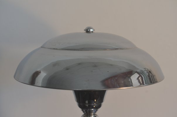 Art Deco Style French Chromed Table Lamp 1940s For Sale At Pamono