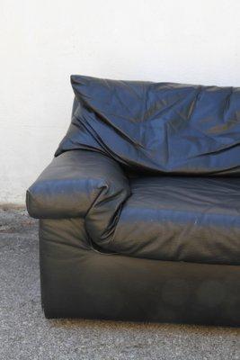 Sensational Vintage French Leather 3 Seater Sofa From Cinna 1990S Inzonedesignstudio Interior Chair Design Inzonedesignstudiocom