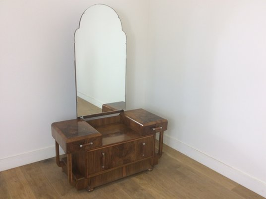 reputable site 8bd72 195a6 Art Deco Dressing Table with Mirror, 1930s