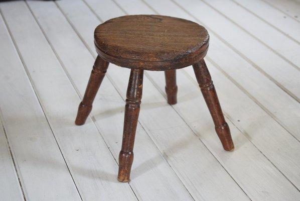 Pleasant Antique Georgian Oak And Elm Milking Stool Pabps2019 Chair Design Images Pabps2019Com