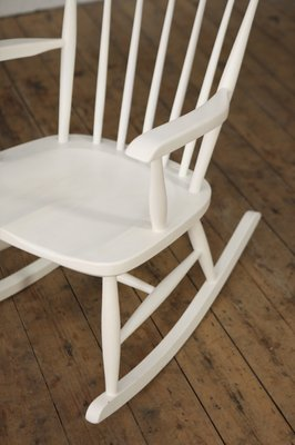 White Rocking Chair 1960s For At
