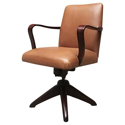 Excellent Rosewood Leather Swivel Desk Chair 1960S Pdpeps Interior Chair Design Pdpepsorg