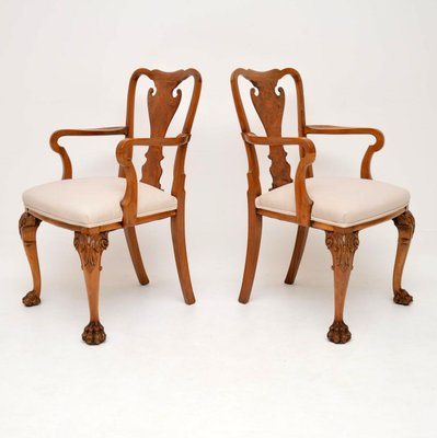 Queen Anne Style Carver Armchairs