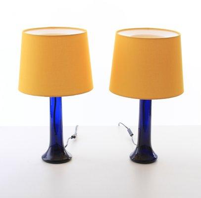 Lampade Da Tavolo Moderne Colorate.Lampade Da Tavolo Moderne In Vetro Colorato Di Uno Osten Kristiansson Per Luxus Scandinavia Anni 60 Set Di 2
