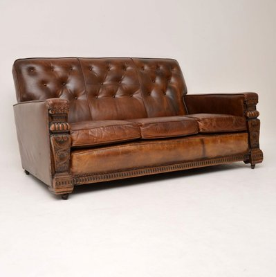 Antique Leather Sofa 1930s For At