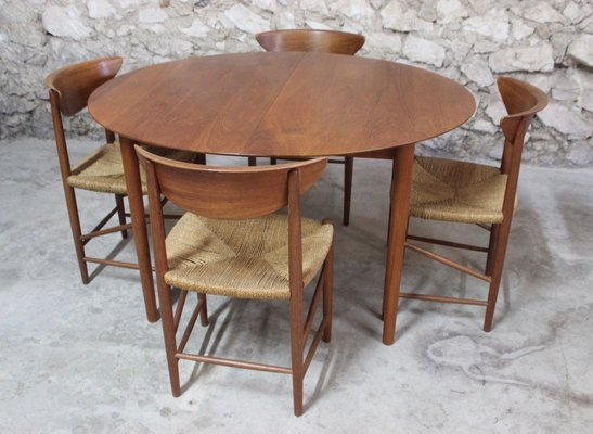 Outstanding Vintage Danish Teak Dining Table 6 Chairs Set By Peter Hvidt Orla Molgaard Nielsen For Soborg Mobelfabrik Beutiful Home Inspiration Xortanetmahrainfo