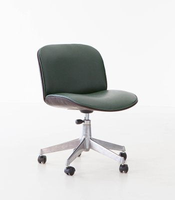 Green Skai Swivel Desk Chair By Ico