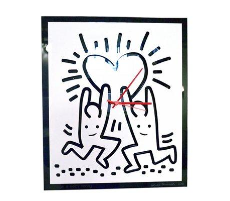 Keith Haring Hommage Wall Clock by Cleto Munari, 2000s