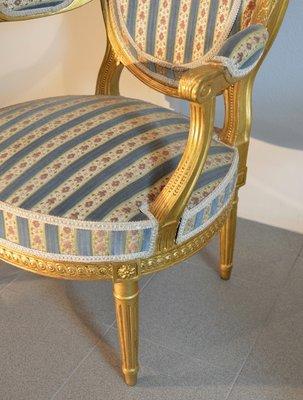 XVI Louis 2 AntiquesFranceSet Fauteuils Style de vN80wOnm
