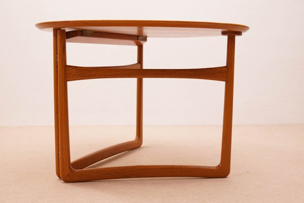 Peachy Folding Side Table By Peter Hvidt For France Son 1950S Ncnpc Chair Design For Home Ncnpcorg