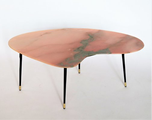 Pink And Green Marble Topped Coffee Table 1950s For Sale At Pamono