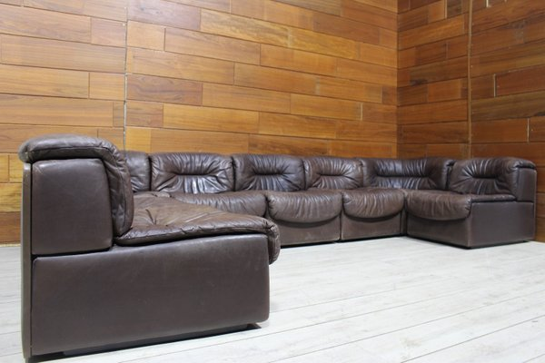 Leather Modular Sofa 1960s