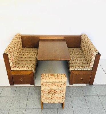 Wooden Corner Sofa, 1960s