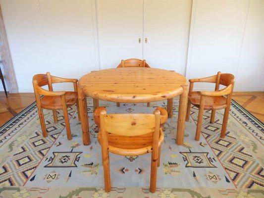 Tavolo Da Pranzo Allungabile E Sedie.Tavolo Da Pranzo Allungabile E Quattro Sedie Di Rainer Daumiller