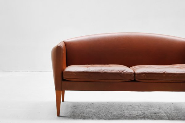 Super Danish Brown Leather Sofa By Illum Wikkelso For Holger Christiansen 1960S Download Free Architecture Designs Salvmadebymaigaardcom