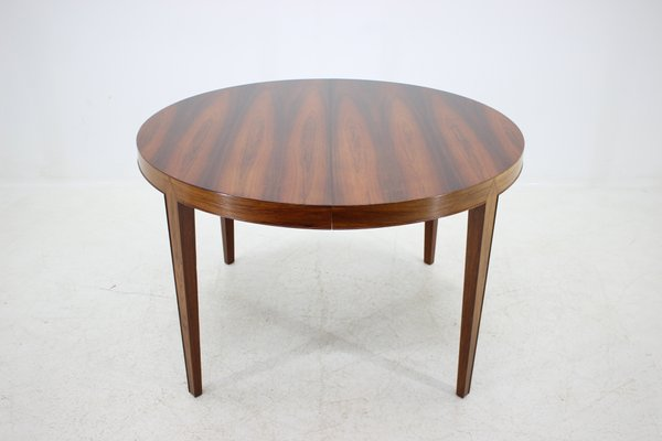 Rosewood Round Extendable Dining Table By Severin Hansen For Haslev Møbelsnedkeri 1960s
