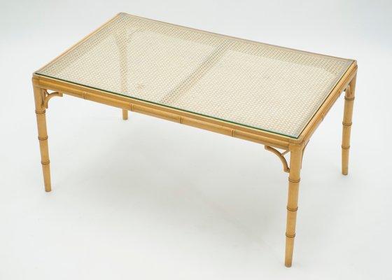 Tavolino Da Caff.Tavolino Da Caffe In Vetro E Bambu Anni 60