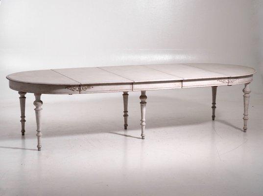 Table De Salle A Manger Extensible Antique Avec 3 Rallonges Suede