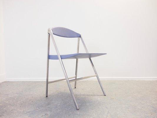 Sedie pieghevoli Donald di Studio Cerri & Associati per Poltrona Frau, inizio XXI secolo, set di 3