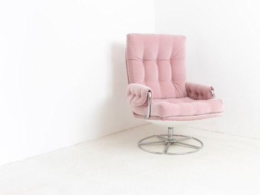 Superb Vintage Swivel Chair By Bruno Mathsson For Dux 1960S Short Links Chair Design For Home Short Linksinfo