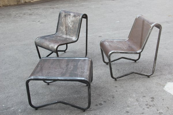 Minimalist Industrial Living Room Set 1950s For Sale At Pamono