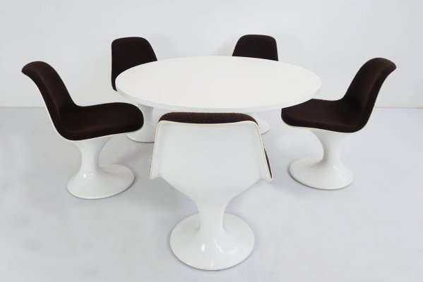 Space Age Mushroom Dining Table 5, Dining Room Chair Set