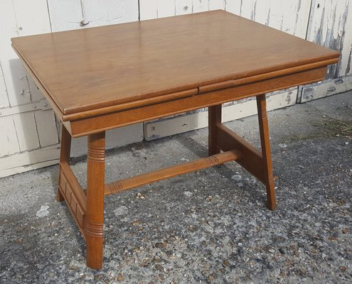 Tavolo Da Cucina In Legno Massiccio.Tavolo Da Pranzo Vintage Allungabile In Legno Massiccio Anni 50