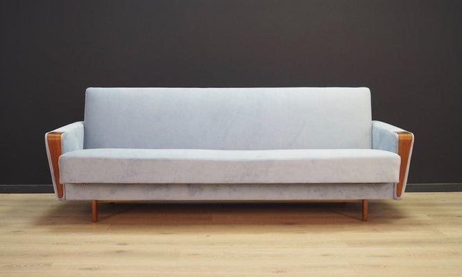 Danish Light Blue Sofa 1970s