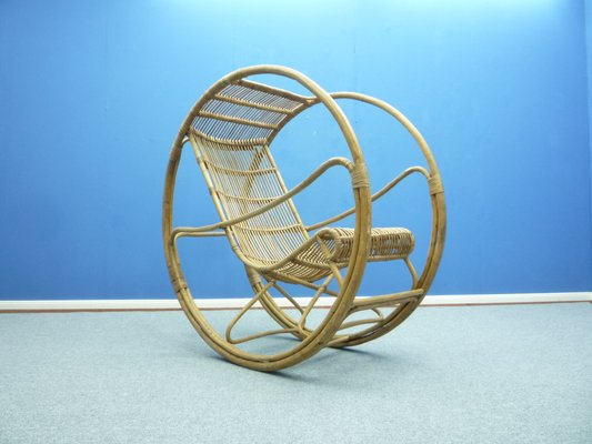 Tremendous Mid Century Rattan And Wicker Rocking Chair Caraccident5 Cool Chair Designs And Ideas Caraccident5Info