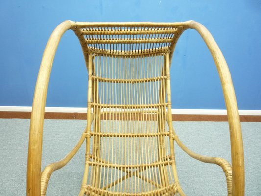 Sensational Mid Century Rattan And Wicker Rocking Chair Spiritservingveterans Wood Chair Design Ideas Spiritservingveteransorg