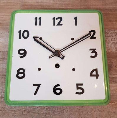 Art Deco Ceramic Kitchen Wall Clock For